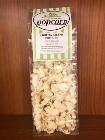 Lightly salted popcorn